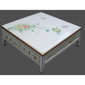 table salon chinoise laque blanche 4 tiroirs promodiscountmeubles magasin en ligne de meubles. Black Bedroom Furniture Sets. Home Design Ideas