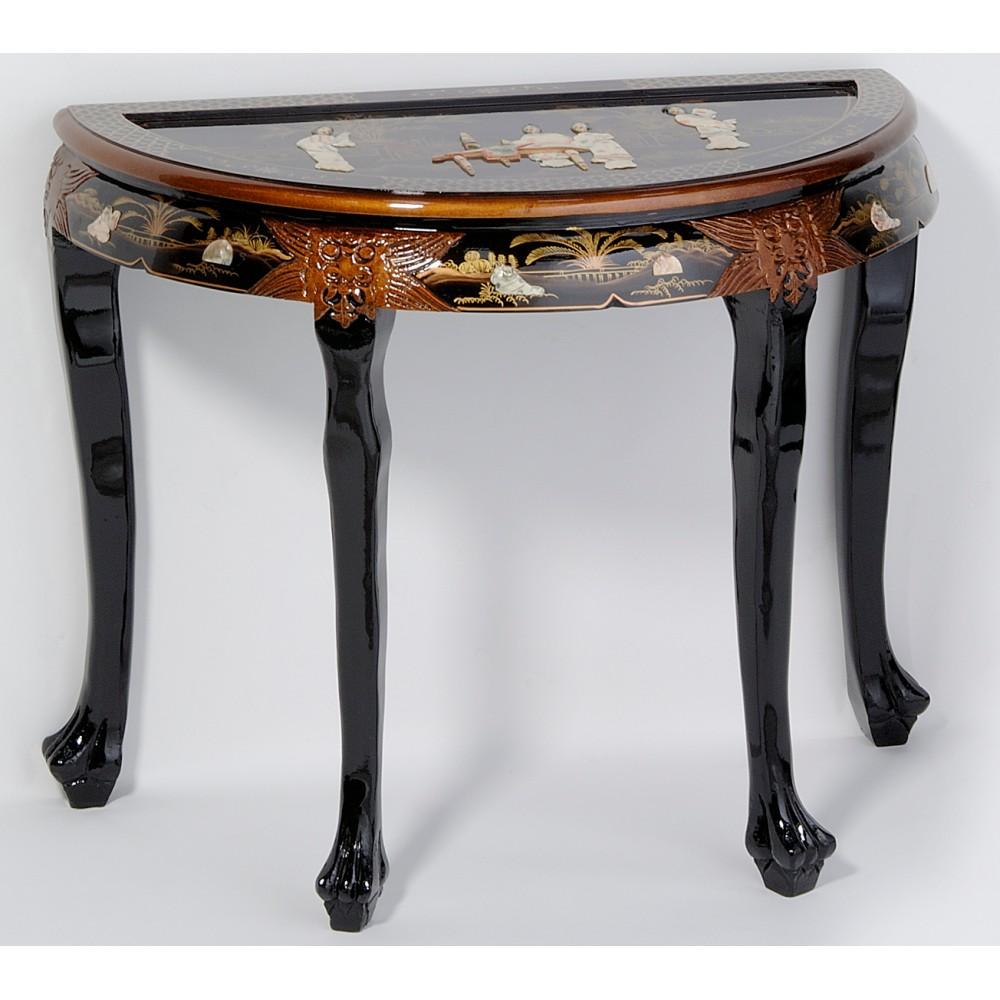 table bureau chinois laque noire ancienne magasin du meuble asiatique et chinois. Black Bedroom Furniture Sets. Home Design Ideas
