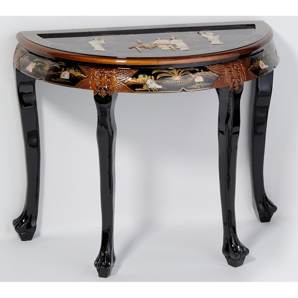 Table bureau chinois laque noire ancienne magasin du for Meuble table bureau
