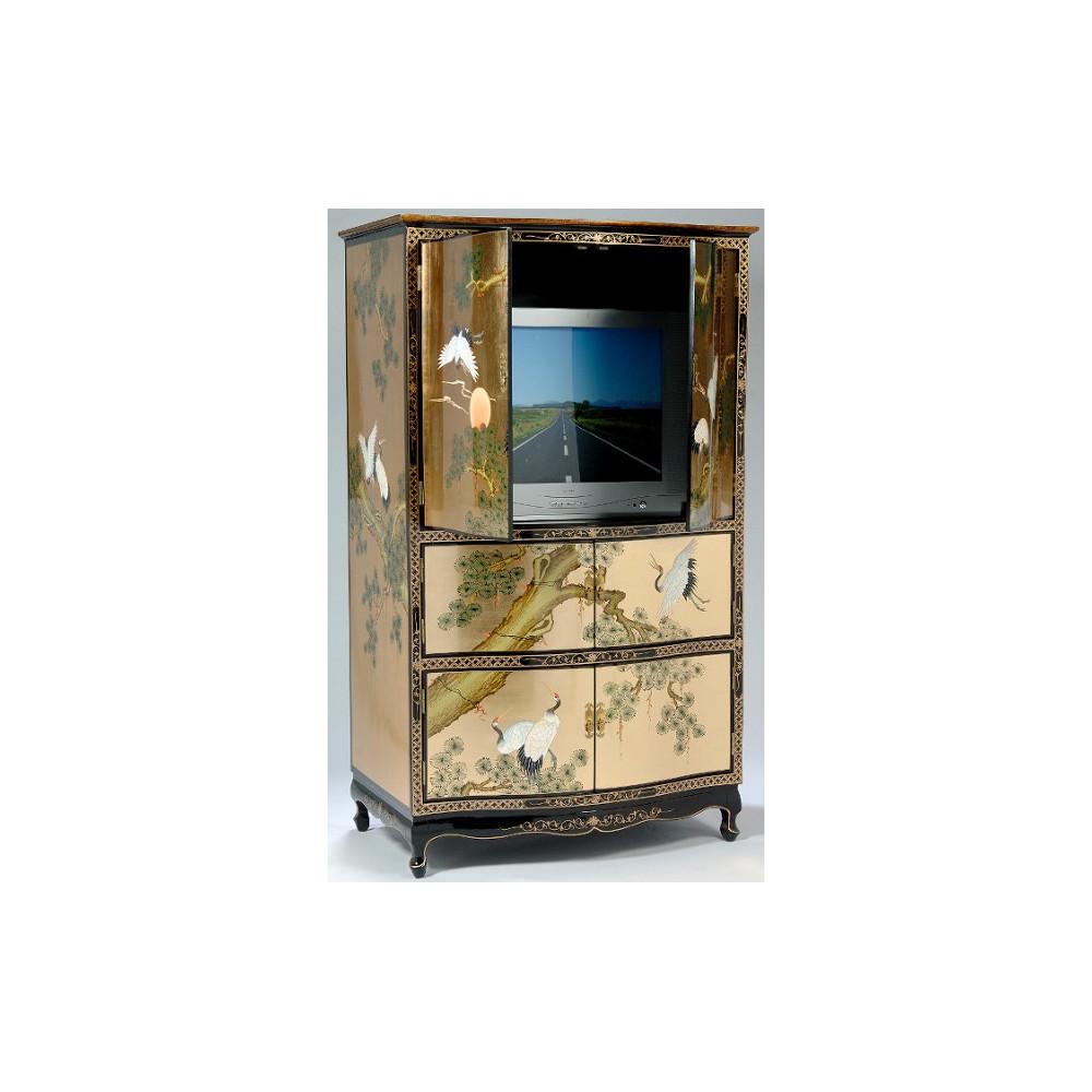 Armoire chinoise tv laque magasin du meuble asiatique et for Armoire meuble tv
