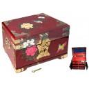 Coffret à bijoux chinois laque rouge