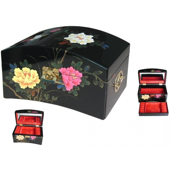 Boites bijoux laque noire de chine for Decoration boite a bijoux
