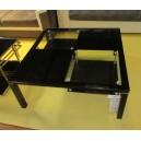 Table de salon métal et verre