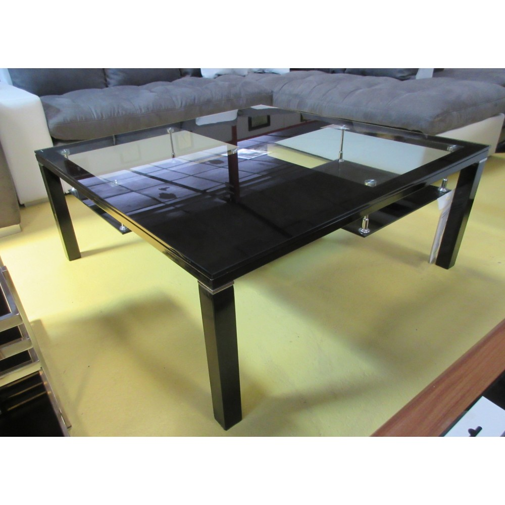 Table de salon m tal et verre promodiscountmeubles - Table salon metal ...