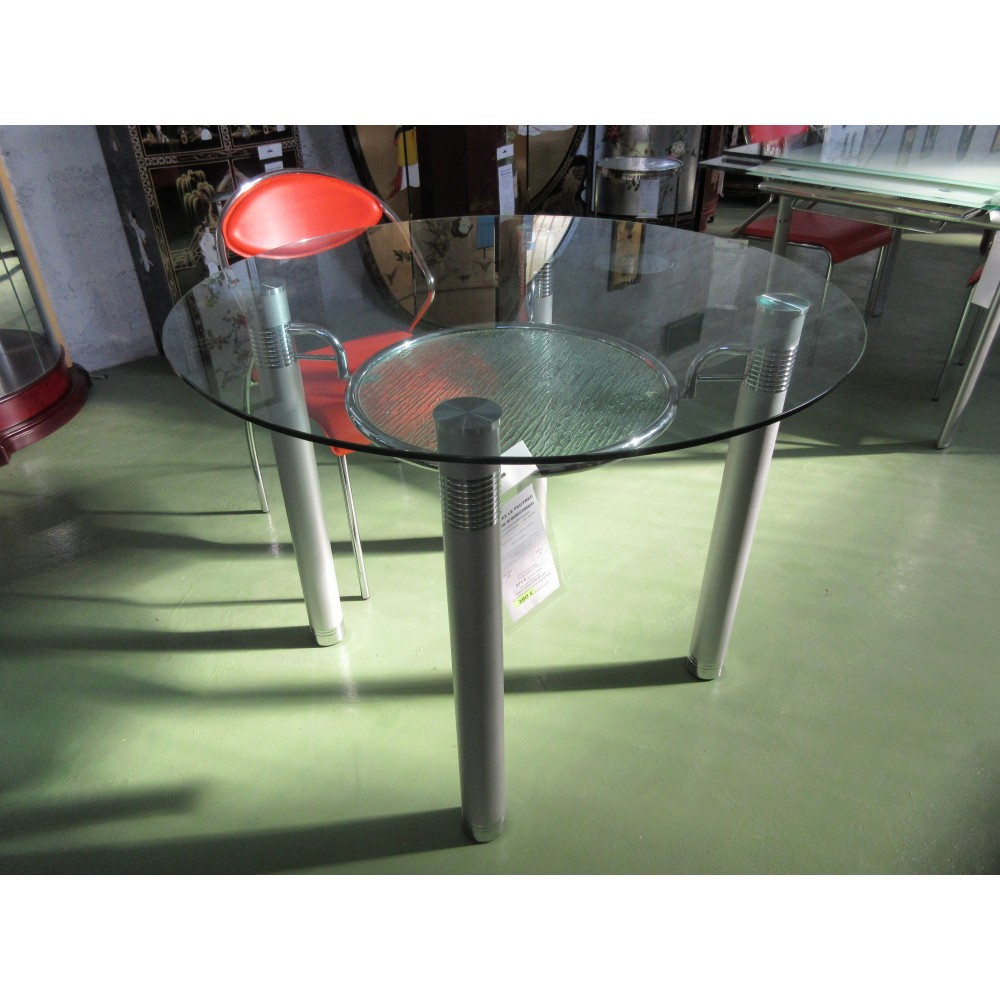 Table ronde design promodiscountmeubles magasin en for Table repas ronde