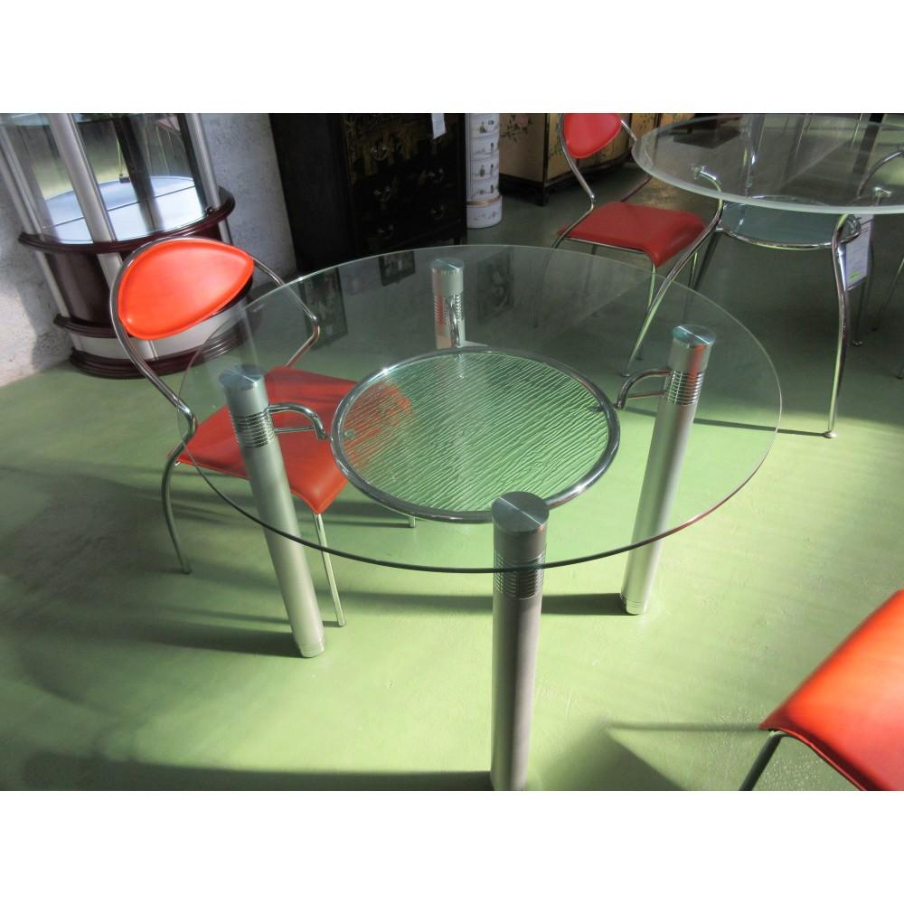 table ronde design promodiscountmeubles magasin en. Black Bedroom Furniture Sets. Home Design Ideas