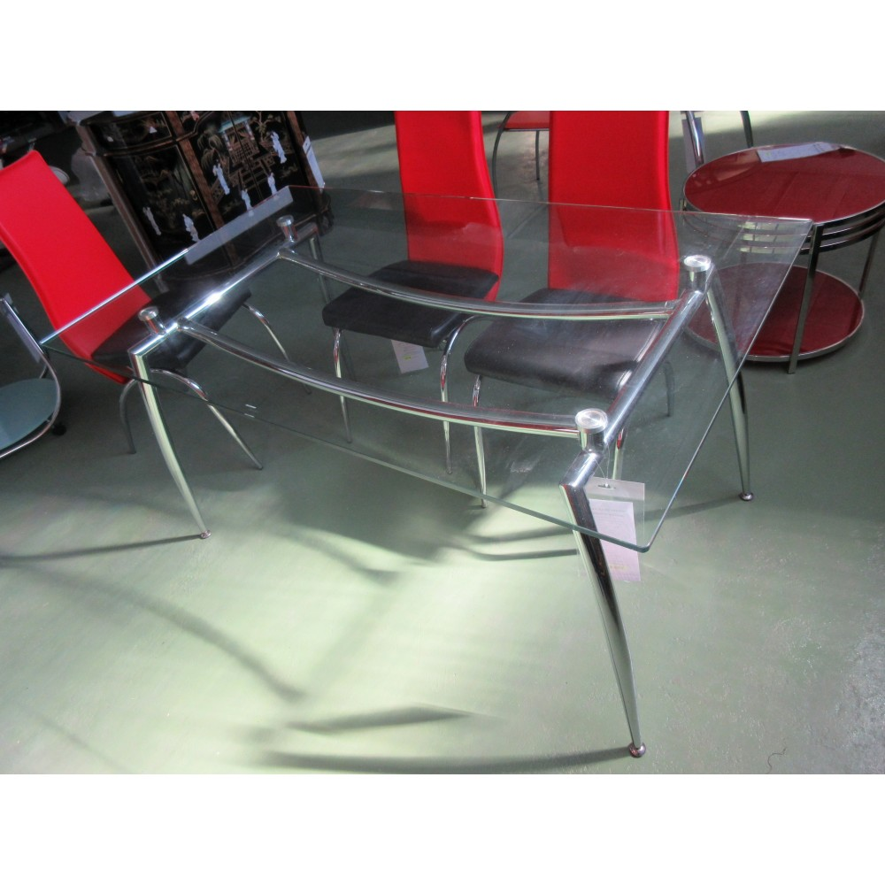Table salle manger en verre promodiscountmeubles for Salle a manger chinoise