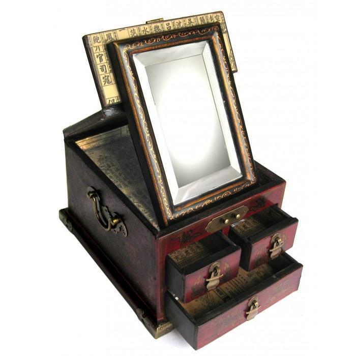 boite bijoux coiffeuse avec miroir promodiscountmeubles magasin en ligne de meubles chinois. Black Bedroom Furniture Sets. Home Design Ideas