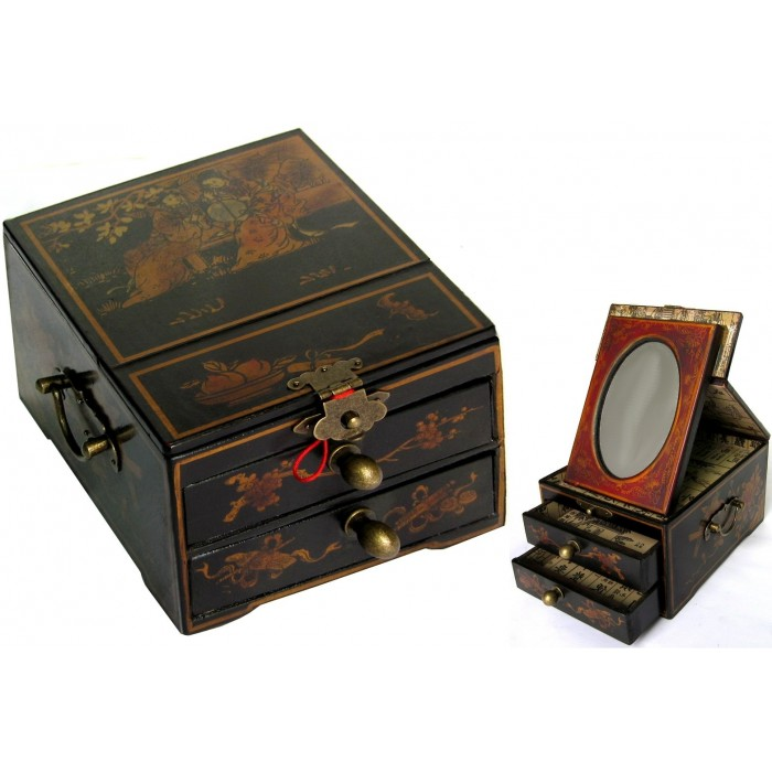 coffret bijoux avec miroir promodiscountmeubles magasin en ligne de meubles chinois et. Black Bedroom Furniture Sets. Home Design Ideas