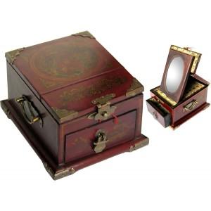 boite bijoux avec miroir promodiscountmeubles magasin en ligne de meubles chinois et asiatiques. Black Bedroom Furniture Sets. Home Design Ideas