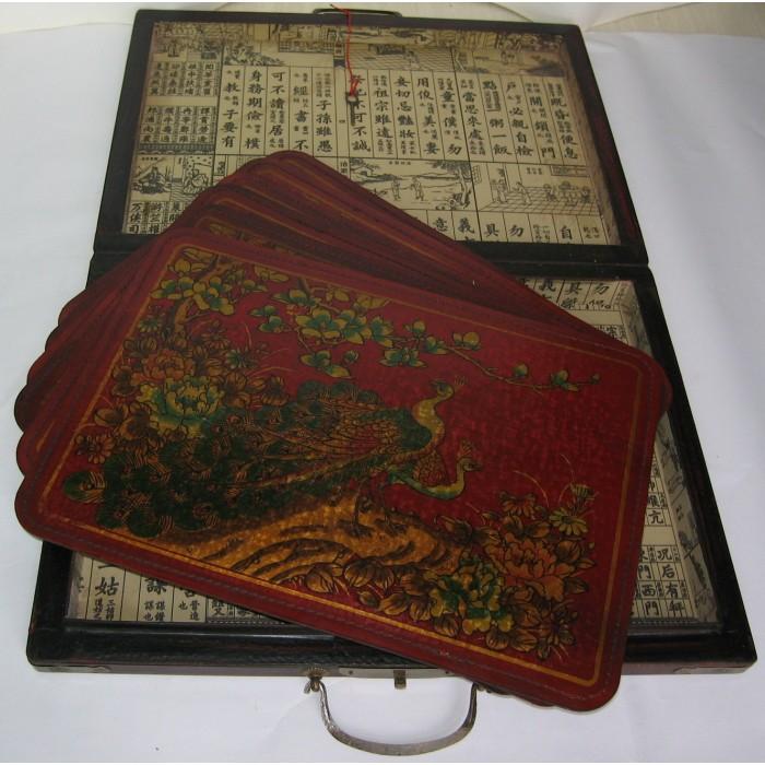 Coffret 6 sets de table chinois promodiscountmeubles for Service de table chinois