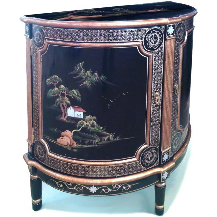 comment nettoyer un meuble chinois laque noir meuble chinois noir laque demi lune galb with. Black Bedroom Furniture Sets. Home Design Ideas