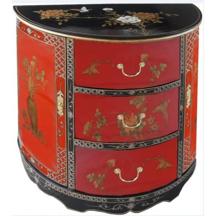 meuble chinois demi lune 2 portes 3 tiroirs promodiscountmeubles magasin en ligne de meubles. Black Bedroom Furniture Sets. Home Design Ideas
