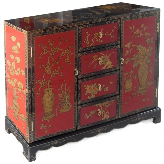 meuble de rangement bicolore magasin du meuble asiatique et chinois. Black Bedroom Furniture Sets. Home Design Ideas