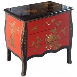 commode chinoise ancienne rouge et noire magasin du meuble asiatique et chinois. Black Bedroom Furniture Sets. Home Design Ideas