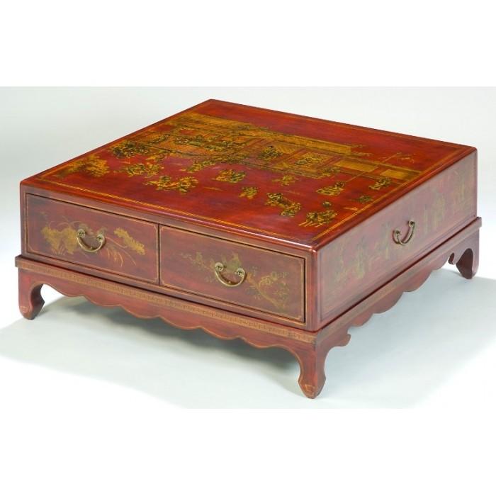 table de salon chinoise carr e. Black Bedroom Furniture Sets. Home Design Ideas