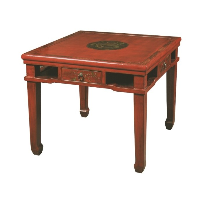 Table chinoise de jeux rouge promodiscountmeubles for Service de table chinois