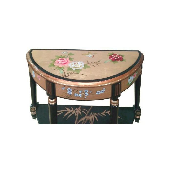 Grande console chinoise laque style ancien magasin du for Meuble asiatique ancien