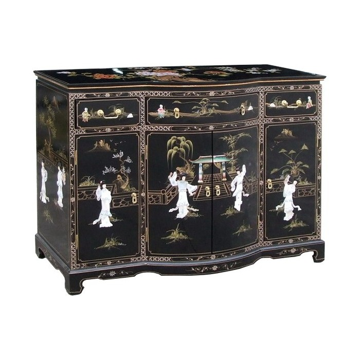 buffet chinois galb laque noire et nacre promodiscountmeubles magasin en ligne de meubles. Black Bedroom Furniture Sets. Home Design Ideas