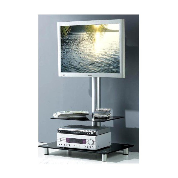 Meuble support tv verre promodiscountmeubles magasin en for Meuble support tv