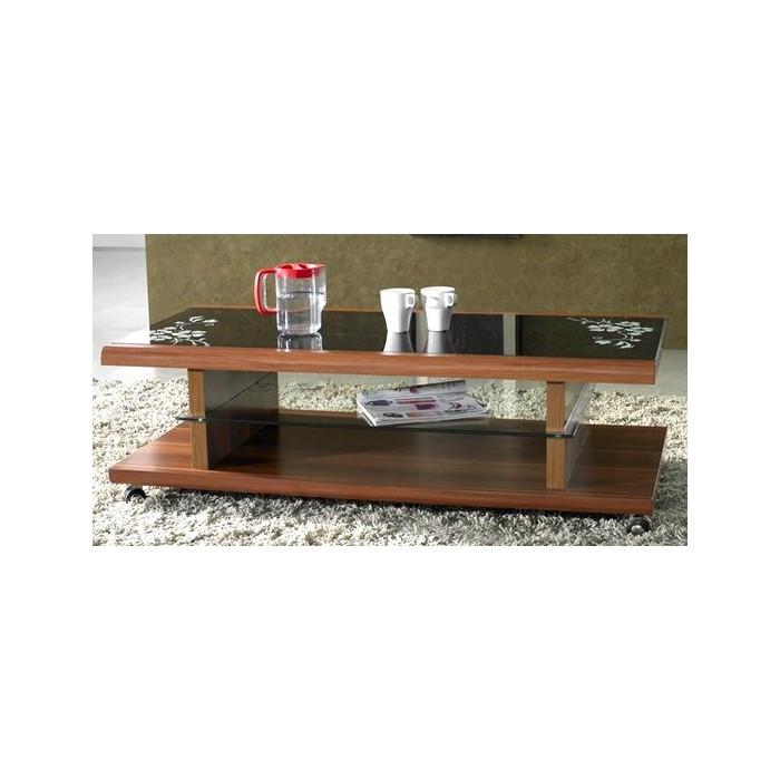 Table avec palette sur roulettes 20170802073522 - Fabriquer une table de salon ...