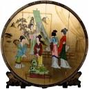 paravent chinois arrondi geisha
