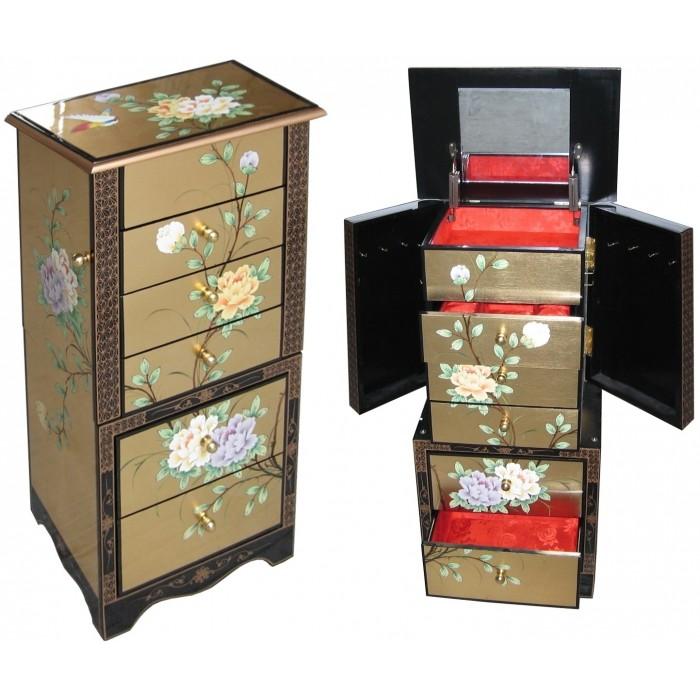 Et classement meuble bijoux de style v nitien en for Meuble a bijoux