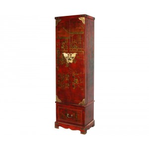 coiffeuse chinoise xian rouge aspect cuir promodiscountmeubles magasin en ligne de meubles. Black Bedroom Furniture Sets. Home Design Ideas