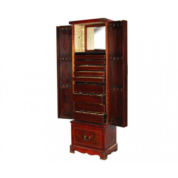 coiffeuse chinoise xian rouge aspect cuir promodiscountmeubles magasin en ligne de meubles. Black Bedroom Furniture Sets. Home Design Ideas