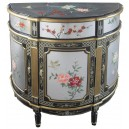 Commode chinoise ancienne laque d'argent