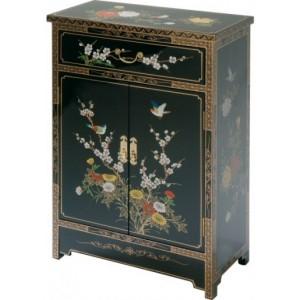 Meuble chinois noir laqu meubles chinois laqu s - Meubles asiatiques bordeaux ...