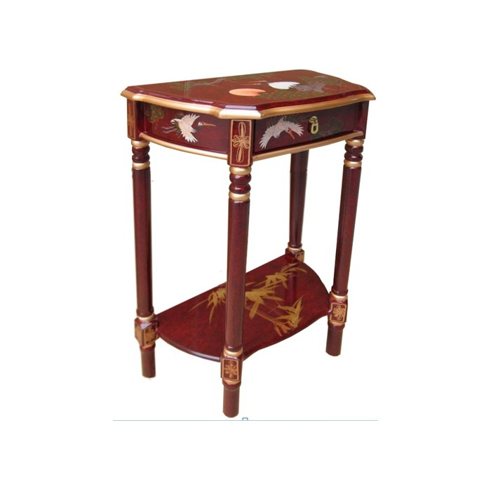 Console style chinois laque rouge ancien magasin du for Console meuble chinois
