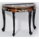 table bureau chinois laque noire ancienne