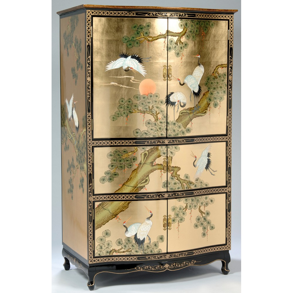 armoire chinoise tv laque meubles chinois laqu s. Black Bedroom Furniture Sets. Home Design Ideas