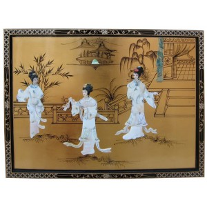 Tableau chinois ancien laqué