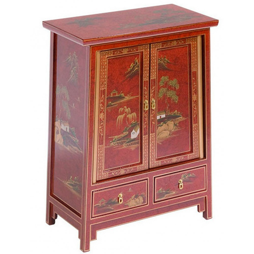 meuble trap ze chinois rouge magasin du meuble asiatique. Black Bedroom Furniture Sets. Home Design Ideas
