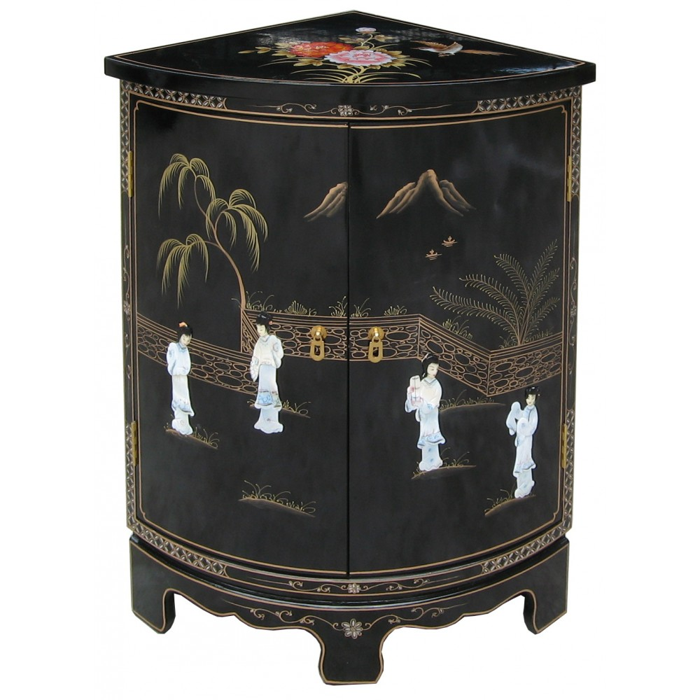meuble d 39 angle encoignure chinoise magasin du meuble asiatique et chinois. Black Bedroom Furniture Sets. Home Design Ideas