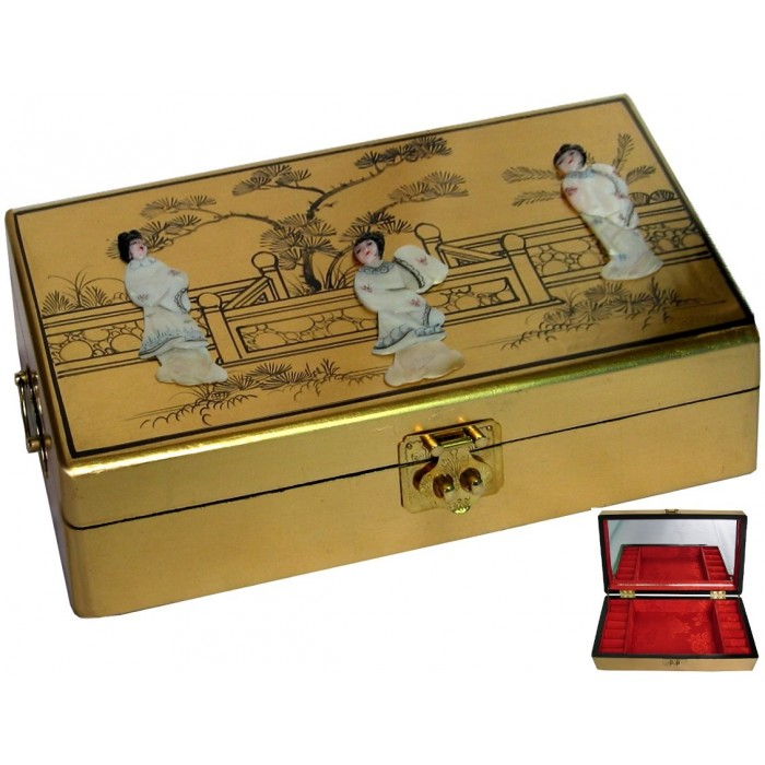 coffret bijoux personnages en nacre magasin du meuble asiatique et chinois. Black Bedroom Furniture Sets. Home Design Ideas