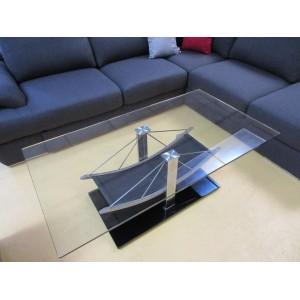 Table de salon verre design