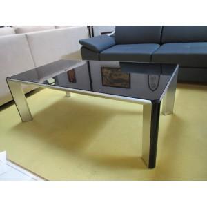 Table de salon verre et acier