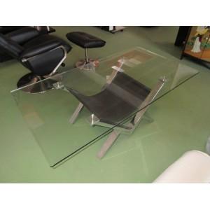 Table de salon déco verre