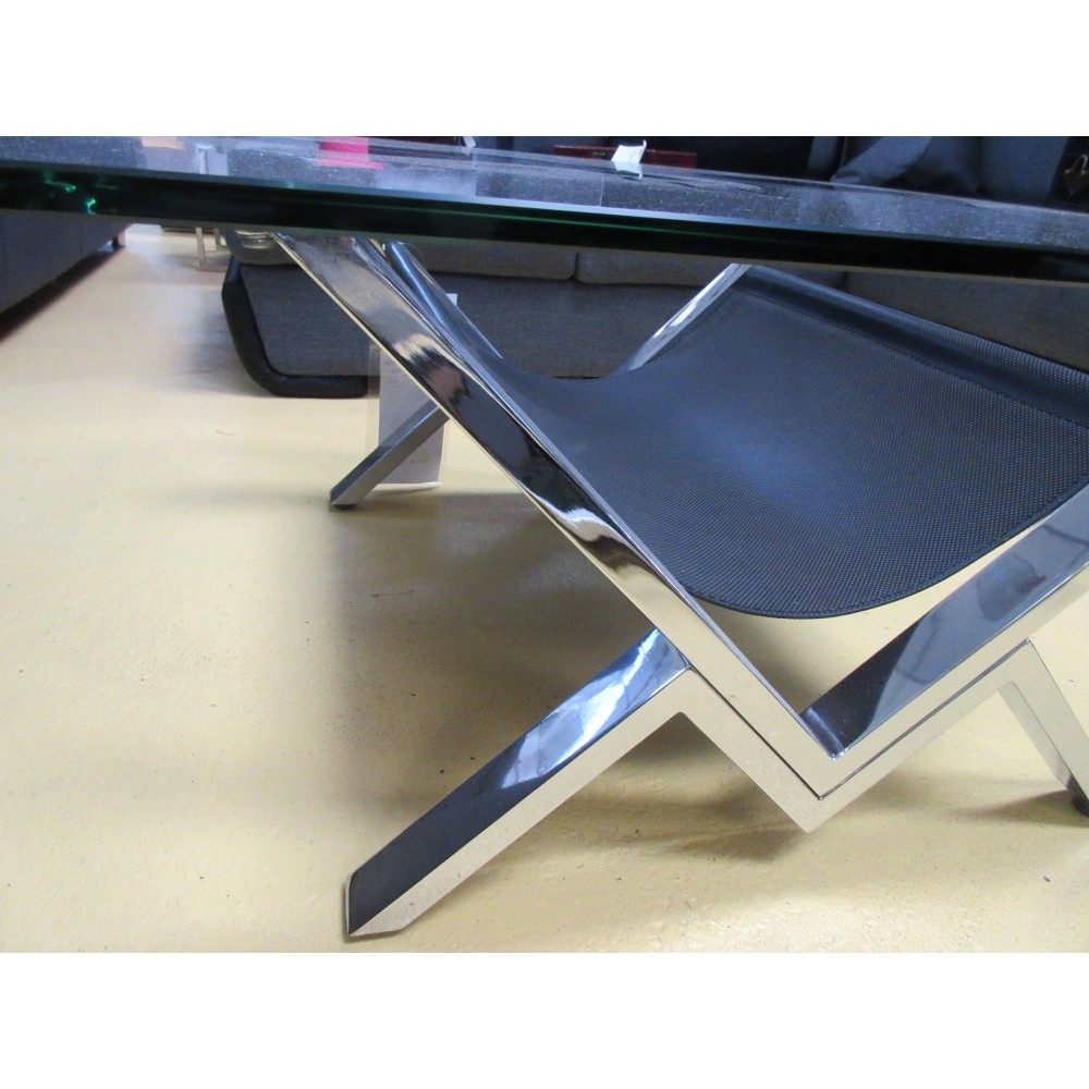 Table basse verre et acier magasin du meuble asiatique - Table basse verre et acier ...