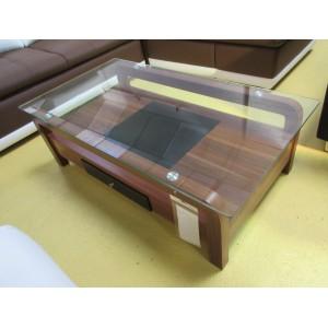 Table de salon verre et bois