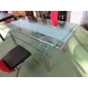 Table salle à manger verre avec rallonges