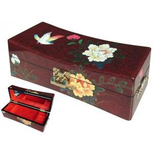 Boite à bijoux galbée laque chinoise