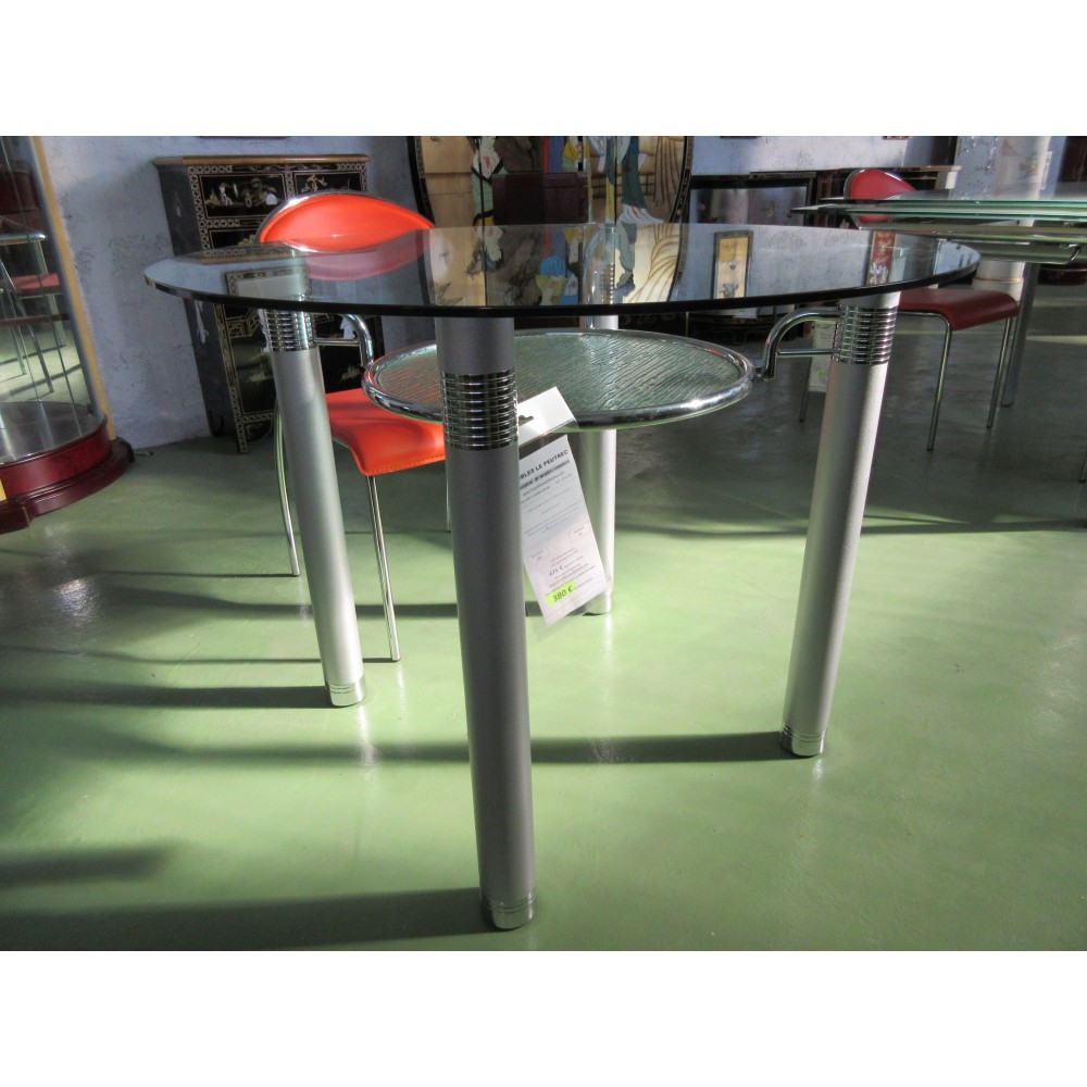 Table ronde design magasin du meuble asiatique et chinois for Table repas ronde