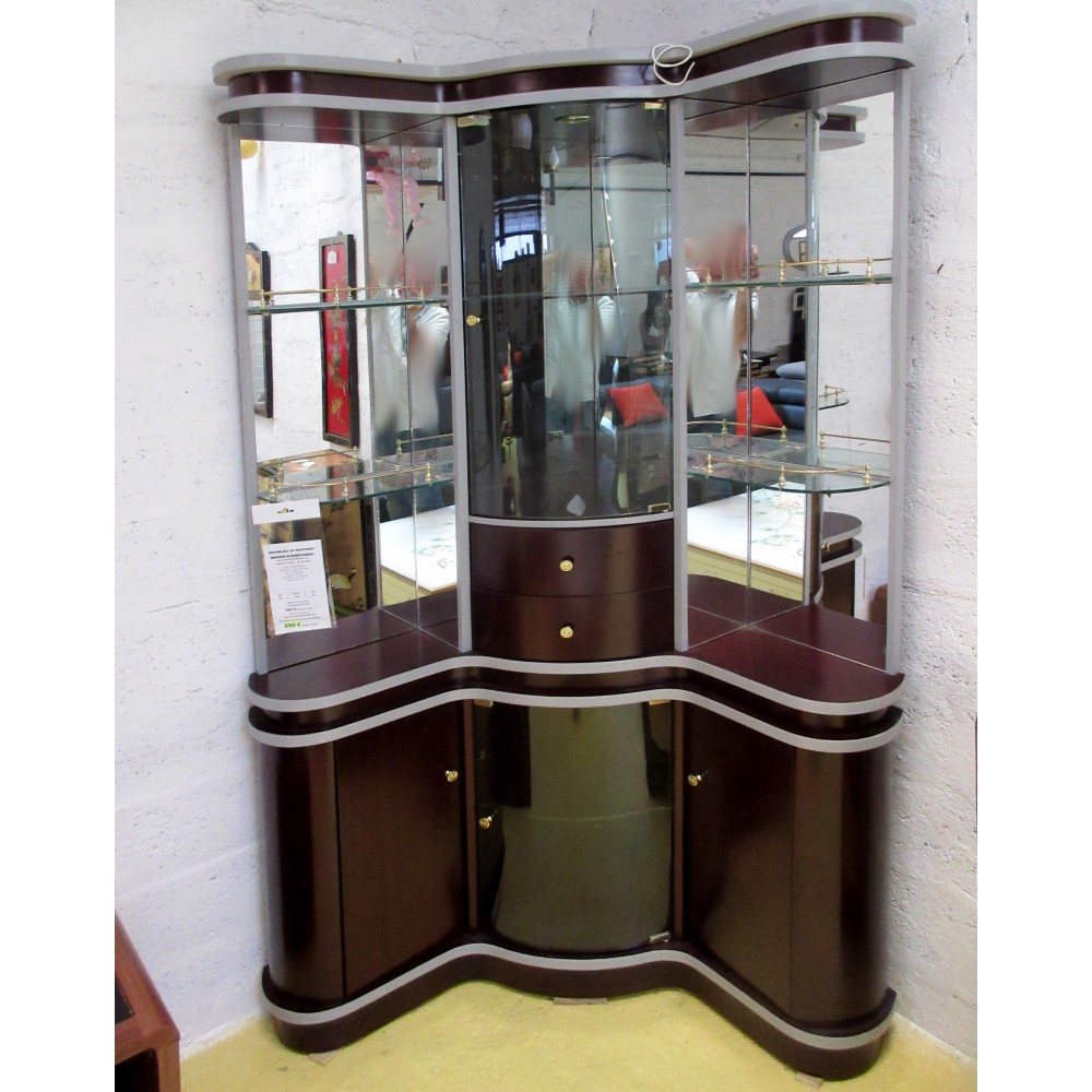 Meuble bar d 39 angle d co magasin du meuble asiatique et for Meuble vitrine chinois