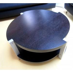 Table ronde wengé