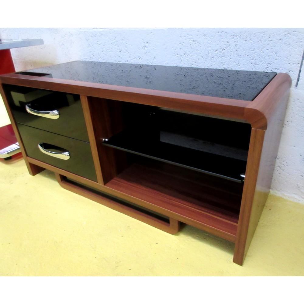 100 meubles tv hifi meuble tv gris en m tal avec. Black Bedroom Furniture Sets. Home Design Ideas