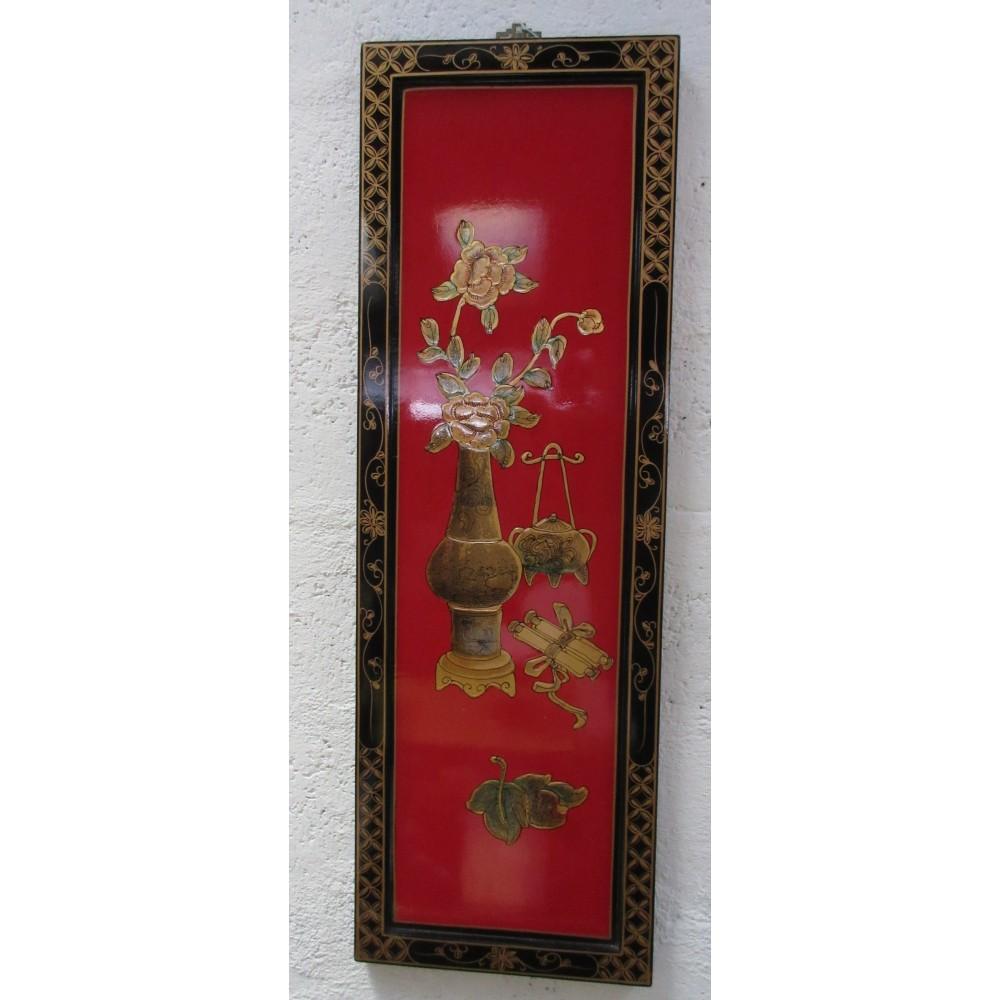 Tableau chinois laque rouge magasin du meuble asiatique et chinois - Meuble asiatique rouge ...